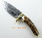 Marble's Damascus Steel Wide Design Hunter Stag Handle