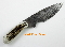 Silver Stag DFS3.1 Damascus Steel Field Slab  Hunting Knife