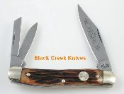 Boker 28032GRC 3 Blade Whittler Folder Jigged Bone