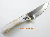 Silver Stag Sharp Forest Hunting  Knife Elk Stick D2 Tool Steel