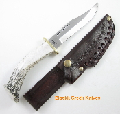 Silver Stag Deep Valley  Knife Crown Burr Handle D2 Tool Steel