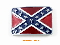 Confederate Flag Enameled Pewter Belt Buckle