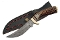 Damascus Steel Mountain Skinner Fixed Blade Knife