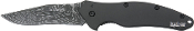 Kershaw Damascus Shallot  Black Handle Knife