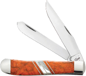 Case CA11104 Exotic Orange Coral Trapper Folding Knife