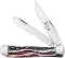 Case XX  Patriotic Trapper Folder Smooth Bone Handles 64132