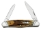 Case 32062 Stag Humpback Half Whittler Slanted/Fluted Bolsters