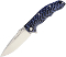Real Steel 7524 T101 Special Edition Blue Linerlock 14C28N