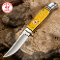 Kissing Crane 5475 Hunting Knife Yellow Bone Handle SS Blade