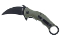 BucknBear Army Green Tactical Karambit Folder D2 Tool Steel G-10