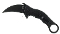 BNB Army Black Tactical Karambit Folder D2 Blade G-10