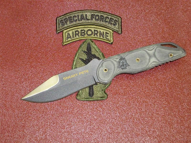 TOPS Knives Sneaky Pete Tactical Knife 154CM Black Micarta